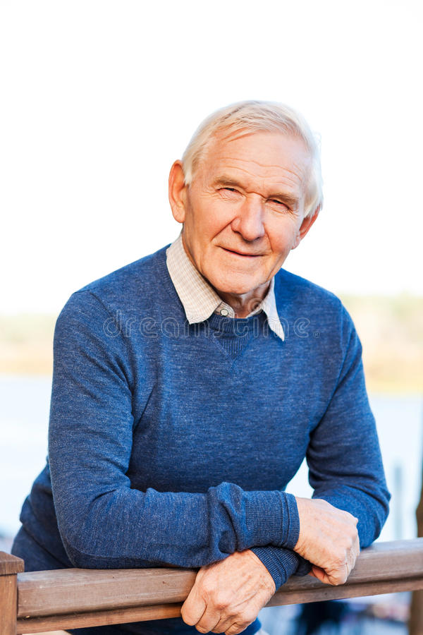 Confident senior man. royalty free stock photos