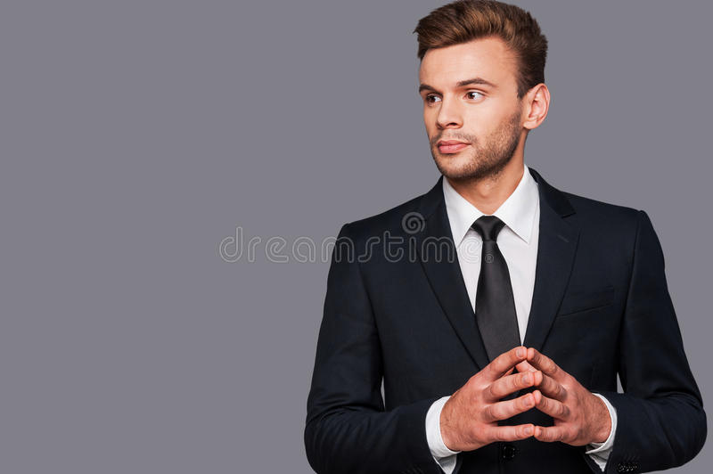 Confident and serious. stock image