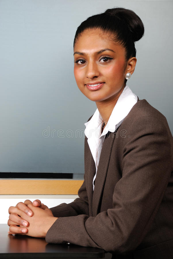 Confident smiling business woman royalty free stock photos