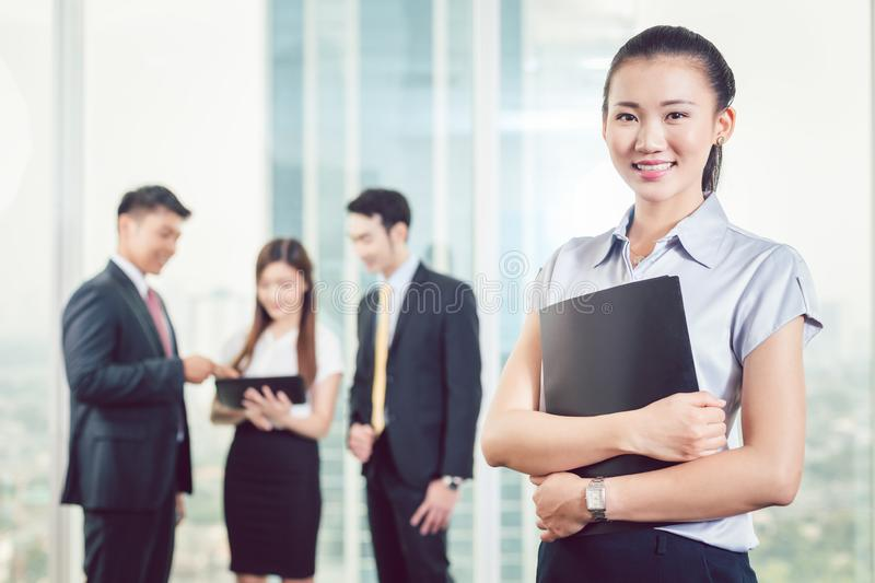Confident young businesswoman royalty free stock images