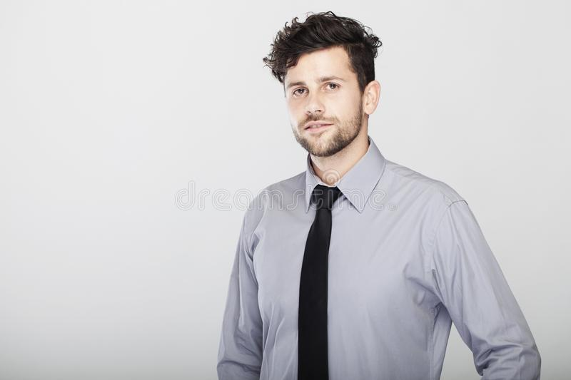 Confident stylish young business man stock photos