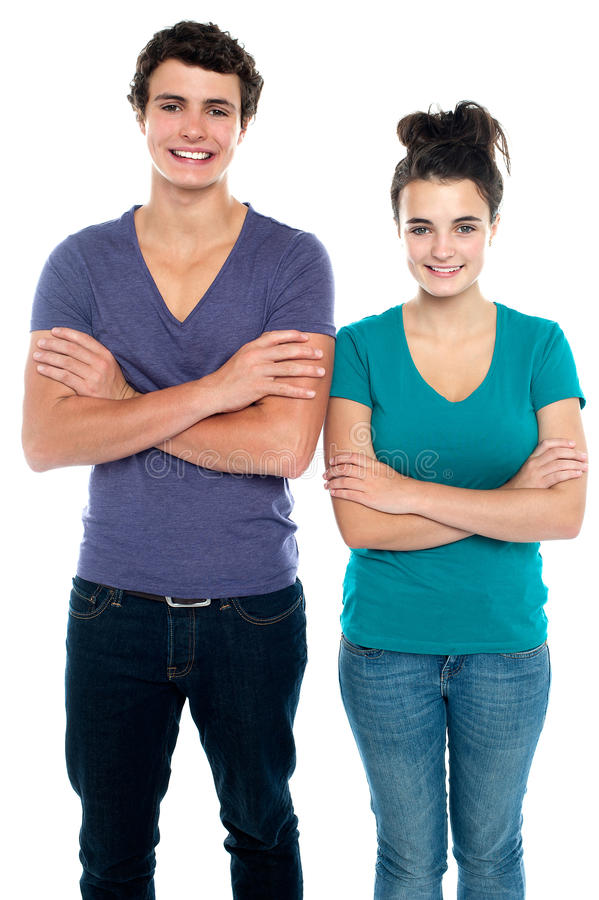 Download Confident Teen With Their Arms Crossed Stock Photography - Image: 27044682