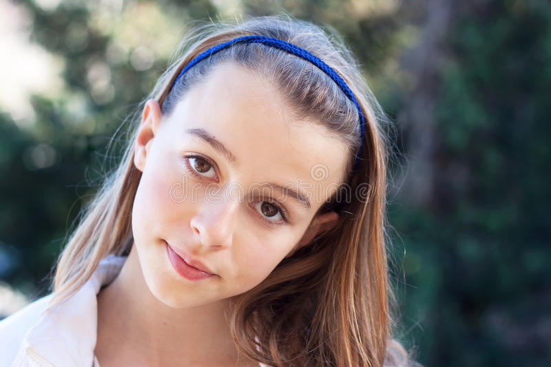 Confident teenager looking at camera royalty free stock photo