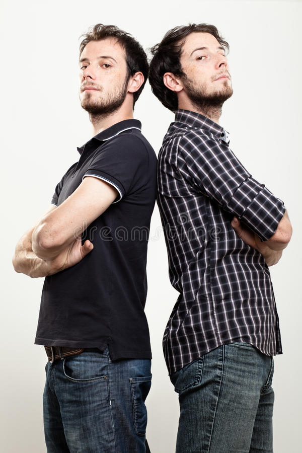 Confident Twins stock photography