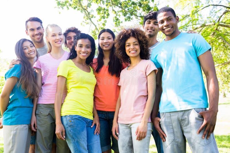 Confident university students royalty free stock photos