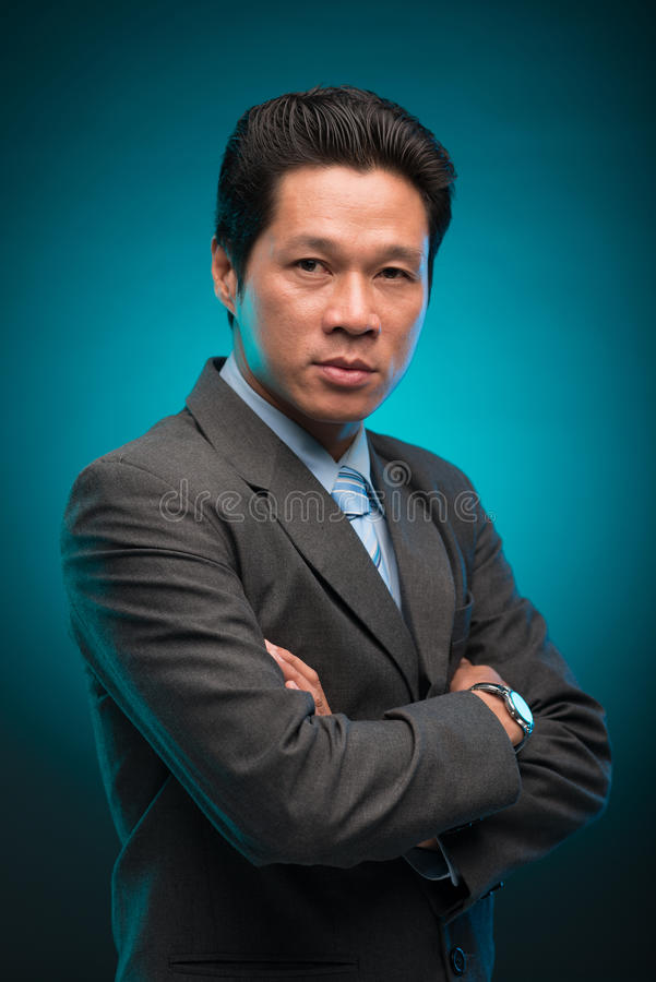 Confident Vietnamese businessman royalty free stock photography