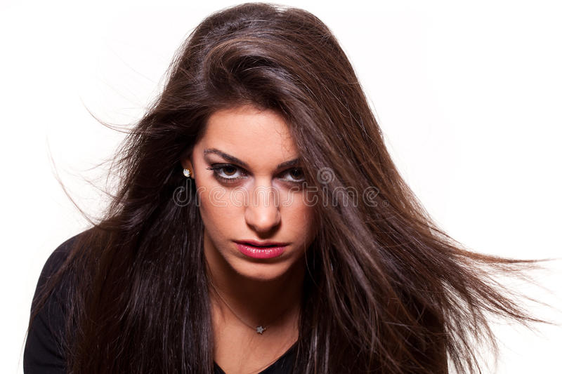 Download Confident woman stock photo. Image of pose, hair, optimistic - 24222524
