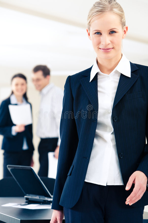 Confident woman stock photo
