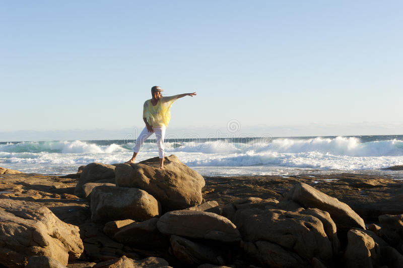 Download Confident Woman Pointing To Forward Direction Stock Photo - Image: 23732352