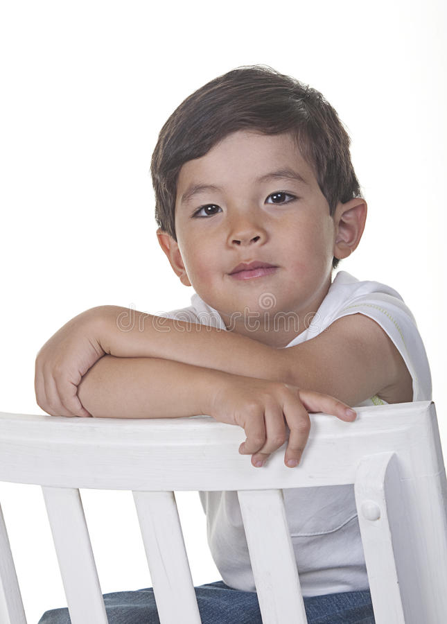 Confident young boy. stock photos