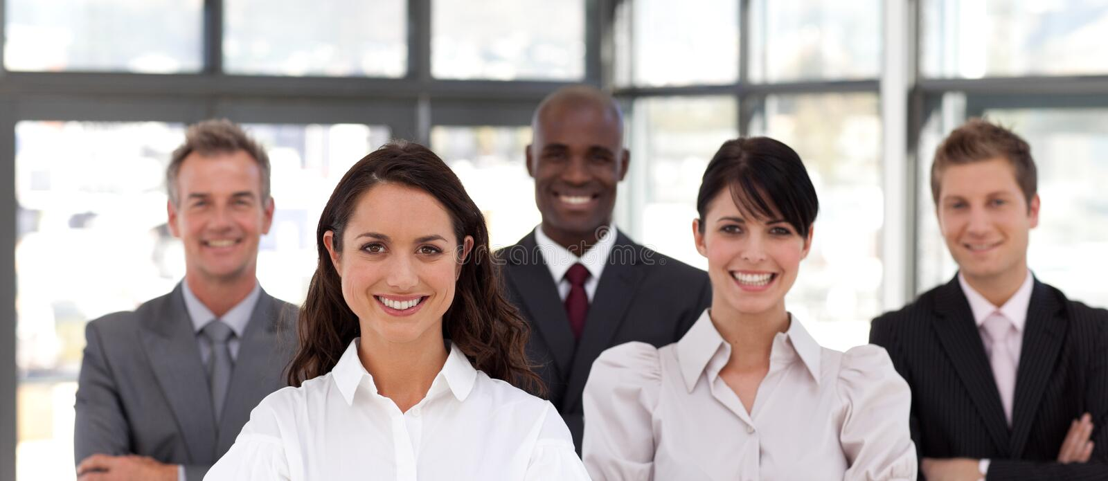 Confident Young Business woman stock photos