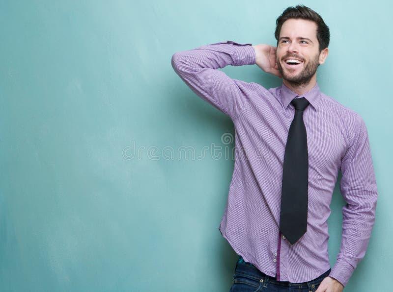 Confident Young Businessman Smiling Stock Photos