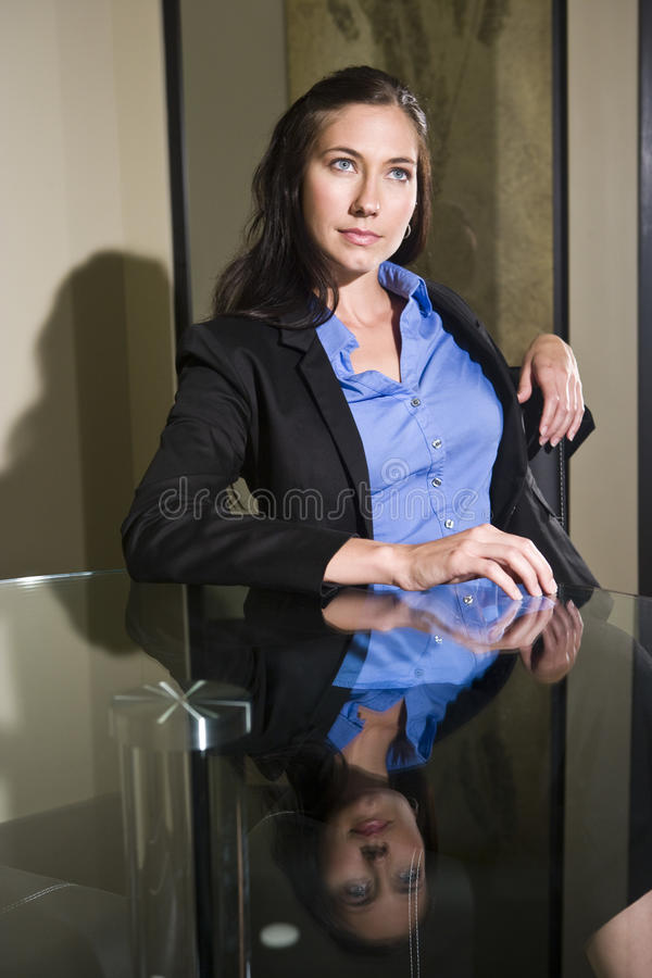 Confident young businesswoman royalty free stock image