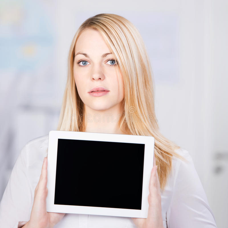 Download Confident Young Businesswoman Holding Digital Tablet Stock Photography - Image: 31212692