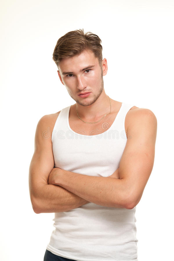 Confident young male model