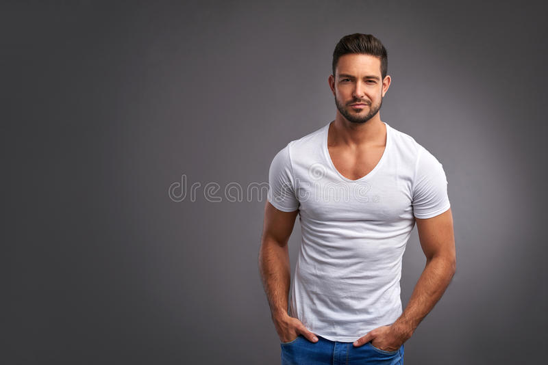 Download Confident young man stock image. Image of lifestyle, arms - 89823313