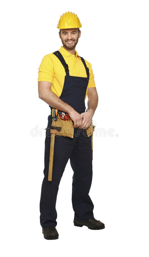 Confident young man ready for work stock photography