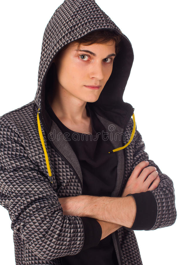 Confident Young Man Seriously Looking At Camera Royalty Free Stock Images