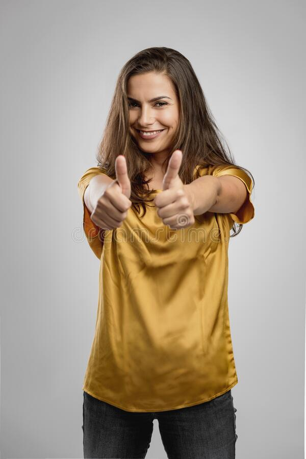 Confident young woman royalty free stock photography