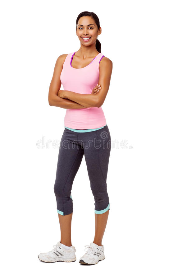 Confident Young Woman In Sports Clothing stock photo