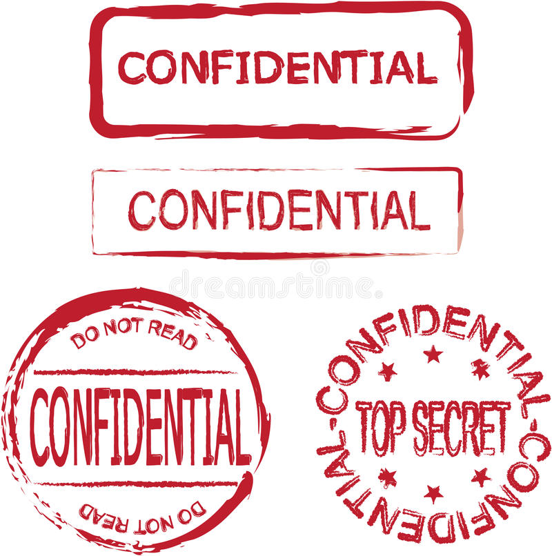 Download Confidential stock vector. Image of rubber, privacy, over - 15760495