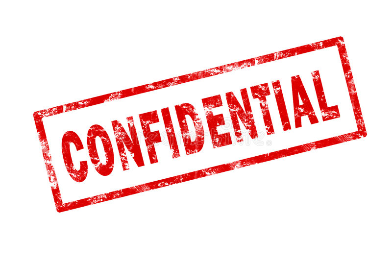 Confidential vector illustration