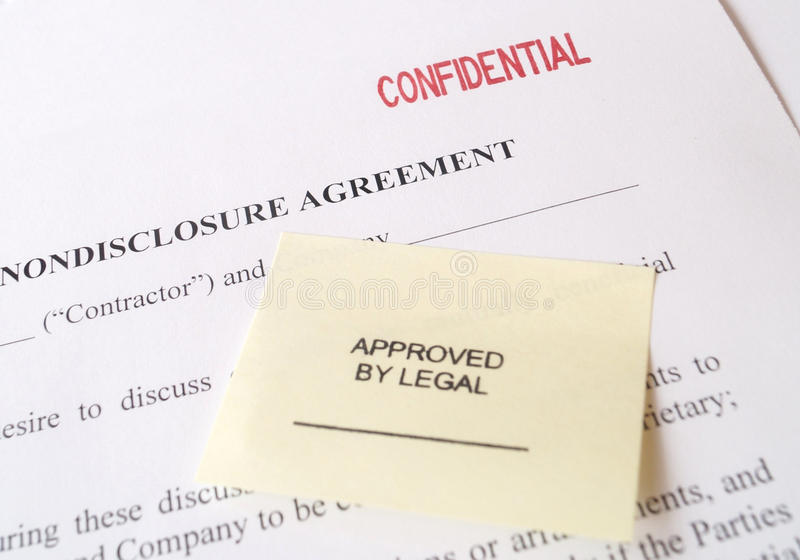 Download Confidential Non-Disclosure Agreement Stock Photography - Image: 32802632