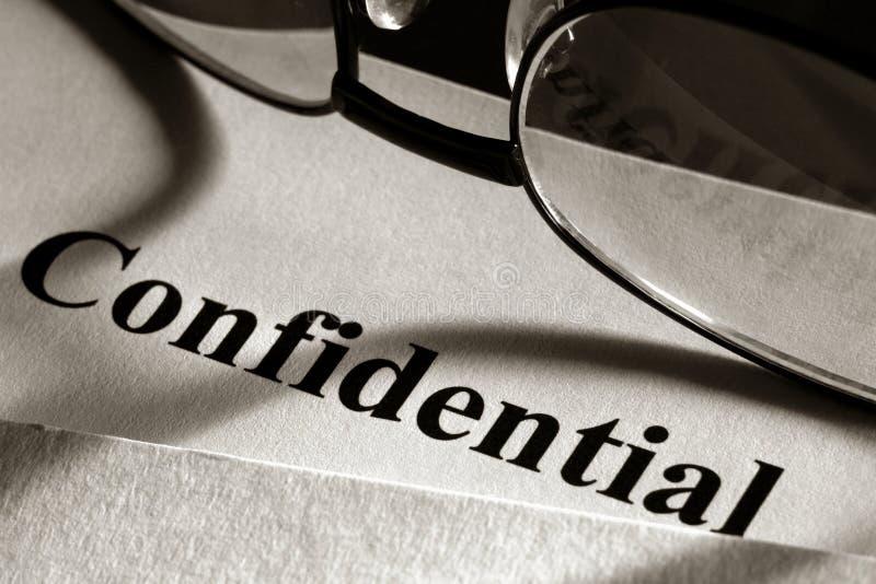 confidential document стоковое фото rf