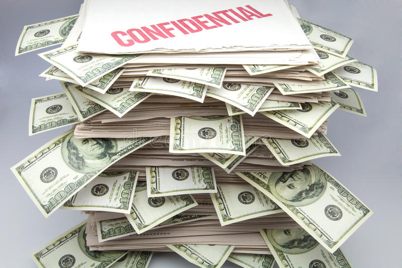 Confidential documents stock image