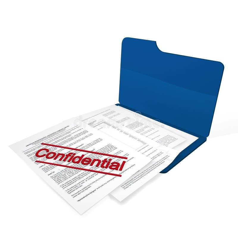Confidential file vector illustration