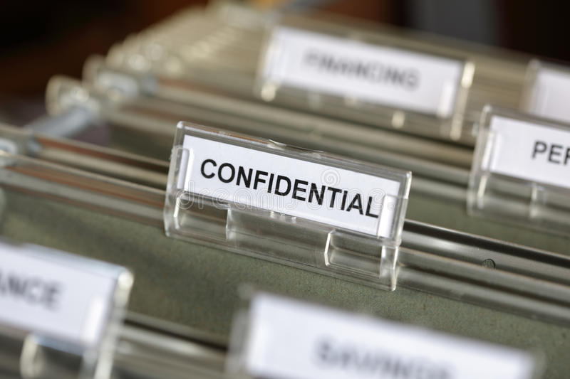 Confidential file royalty free stock photos