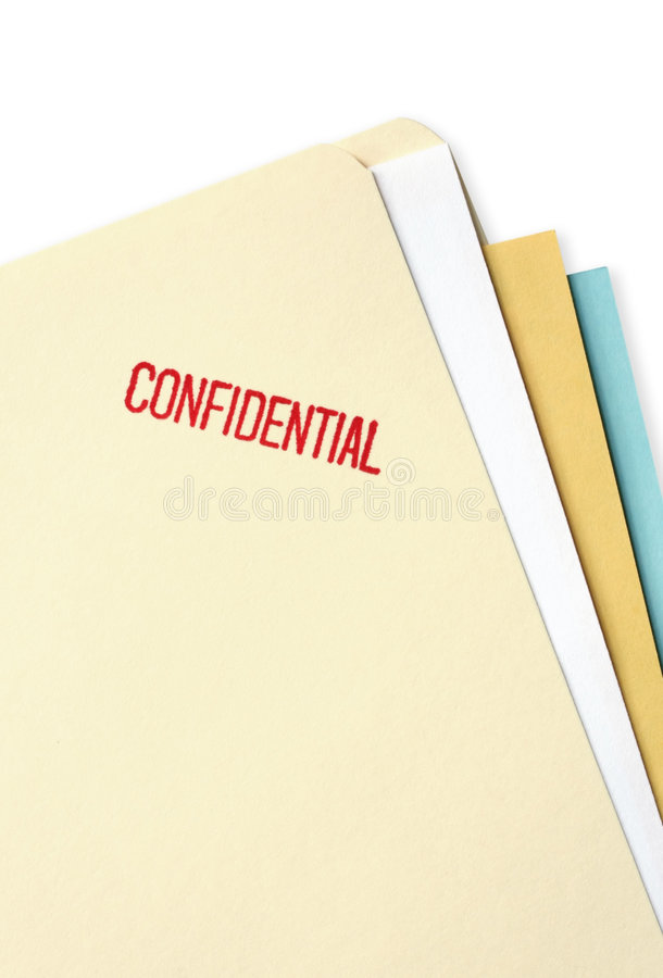 Confidential File Folder stock image