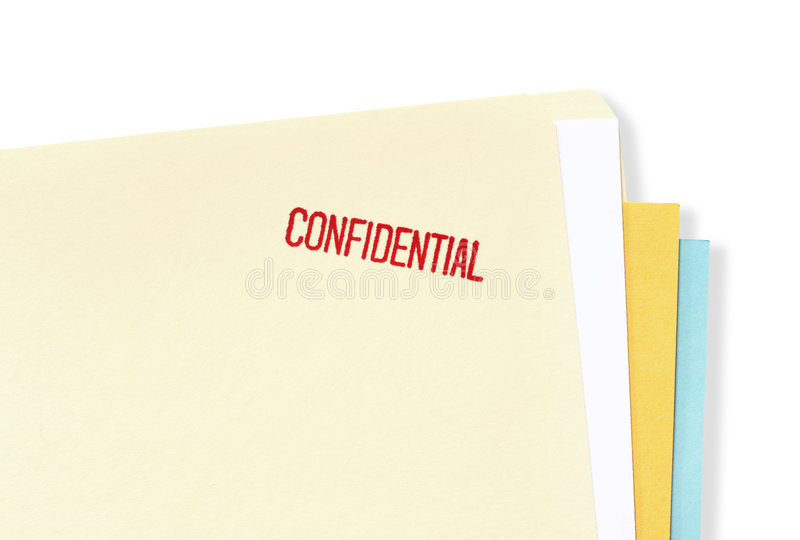 Confidential File Folder stock photography
