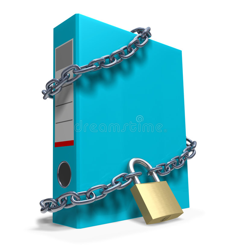 Confidential files royalty free illustration