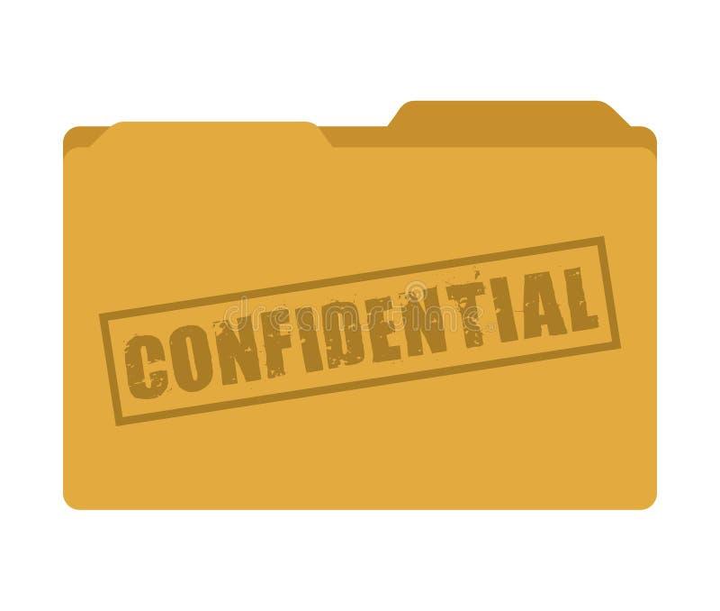 confidential folder isolated icon design stock illustration