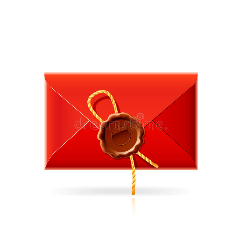 Confidential mail icon royalty free illustration