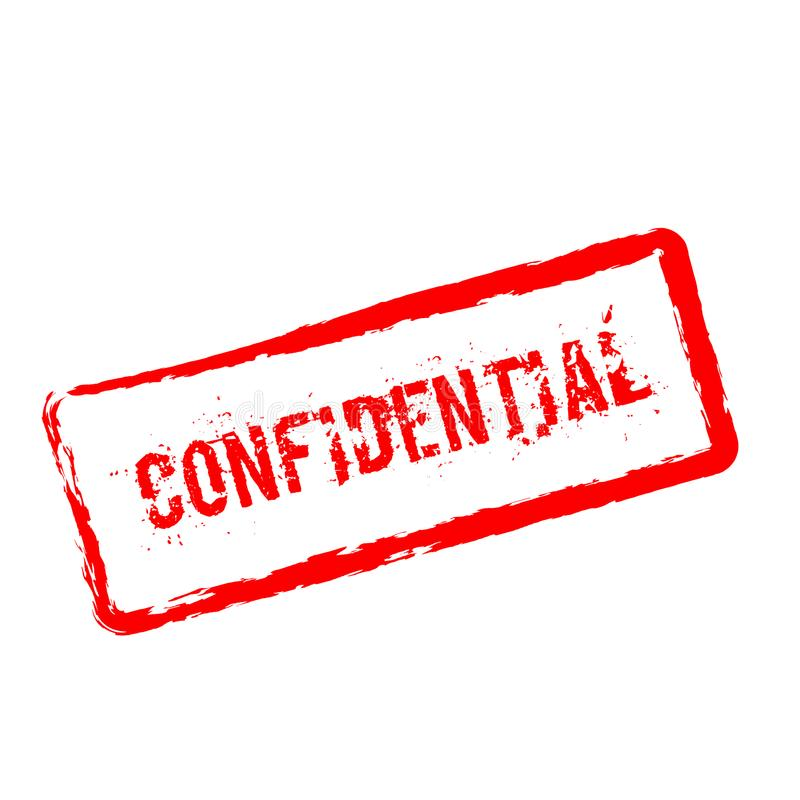 Confidential red rubber stamp isolated on white. vector illustration