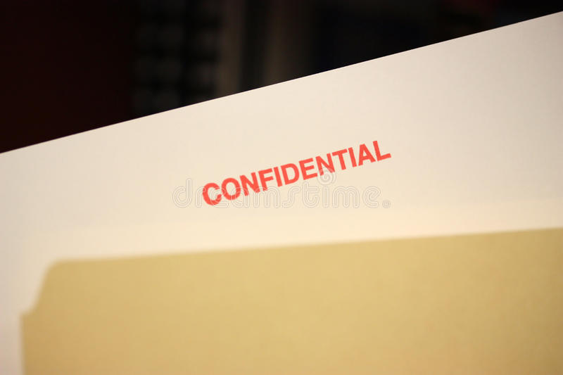 Download Confidential Stamp stock photo. Image of note, document - 14456920