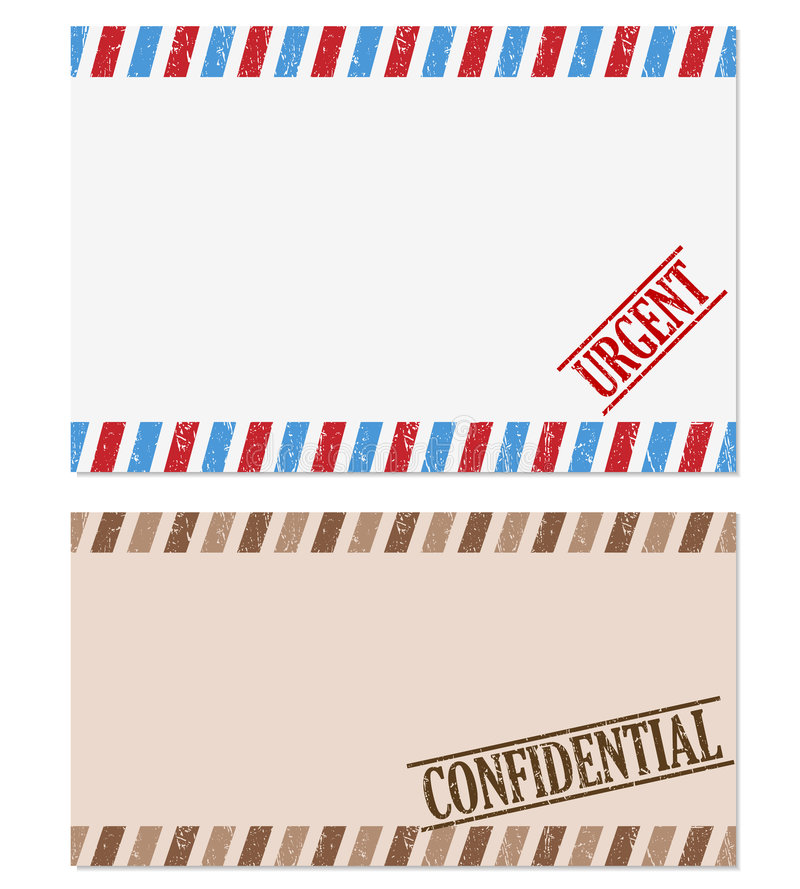 Confidential and urgent note royalty free illustration