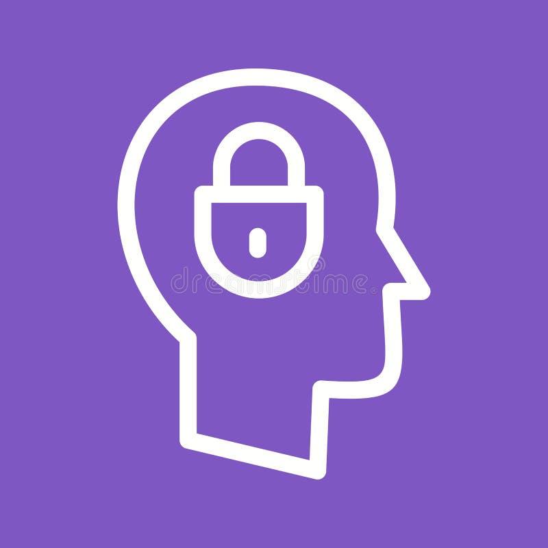 confidentialité illustration de vecteur