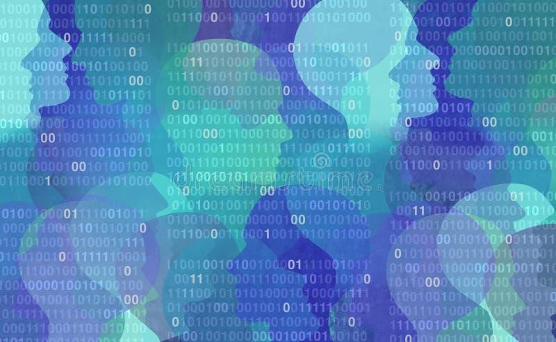 Confidentialité des données d'utilisateur illustration de vecteur
