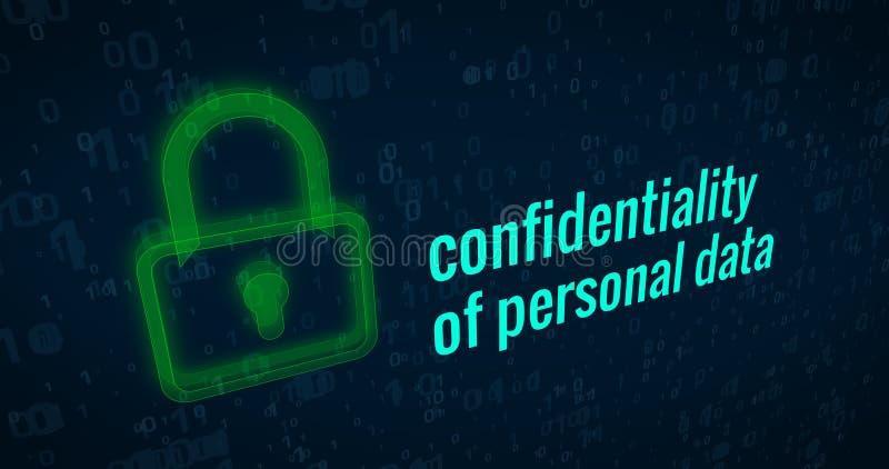 Confidentialité des données personnelles illustration libre de droits