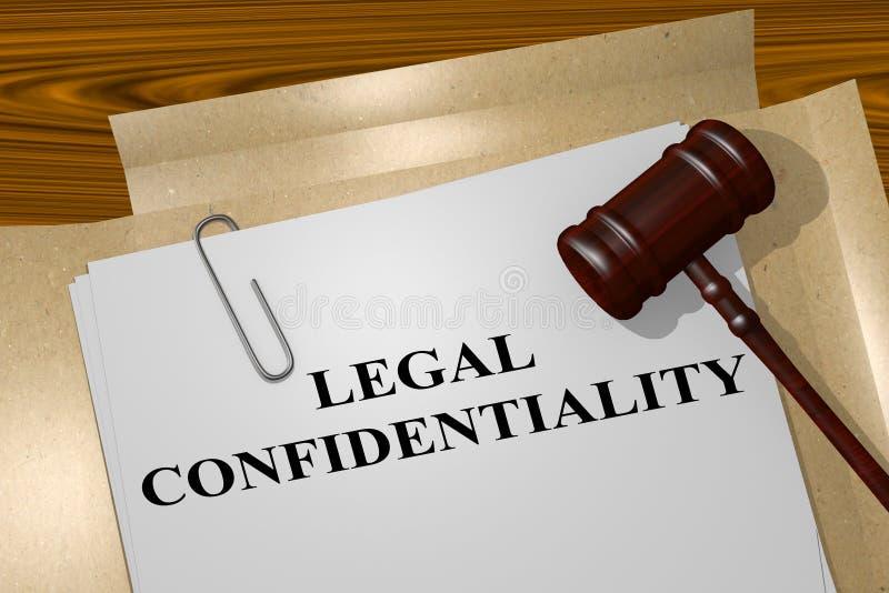 Confidentialité juridique - concept juridique illustration libre de droits