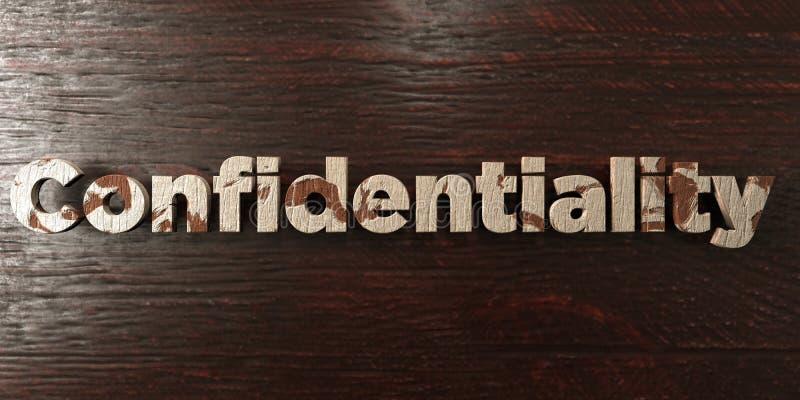 Confidentialité - titre en bois sale sur l'érable - image courante gratuite de redevance rendue par 3D illustration stock