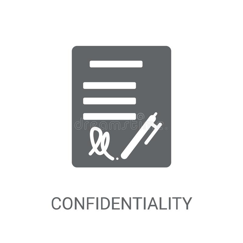 Confidentiality agreement icon. Trendy Confidentiality agreement stock illustration