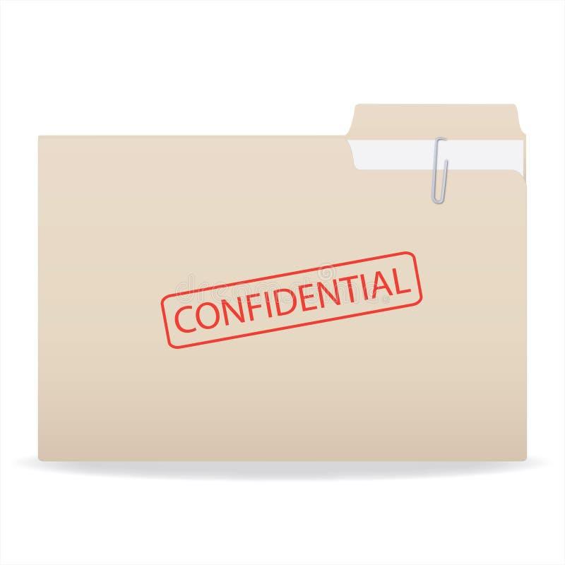 Confidentiel illustration libre de droits