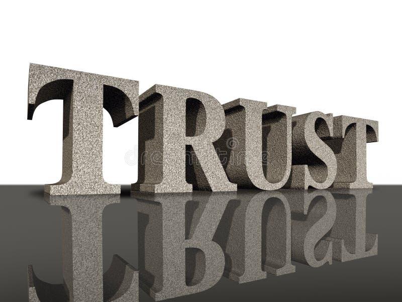 Confie a integridade financeira do símbolo do negócio da honra ilustração stock