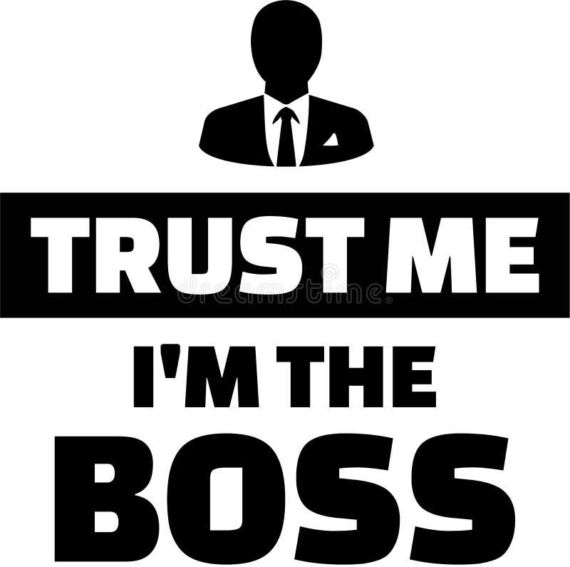 Confie-me o ` m de I o chefe ilustração stock