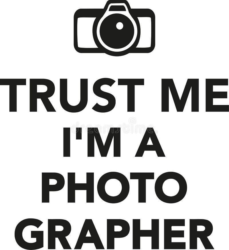 Confie-me o ` m de I um fotógrafo ilustração royalty free