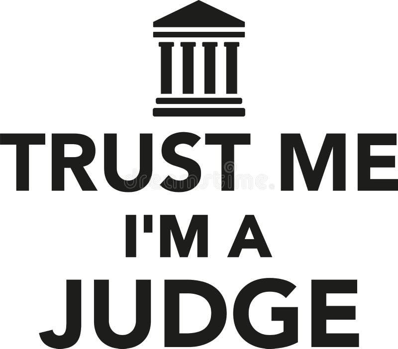Confie-me o ` m de I um juiz ilustração do vetor